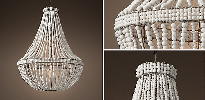 Clay Bead Empire Chandelier Ivory Restoration Hardware