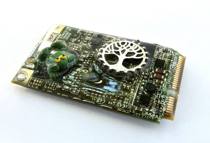 Nature-Themed Circuit Board Magnet, computer magnet, recycled computer, geeky magnets, gifts under 25, geek gift by DianthaDesigns on Etsy