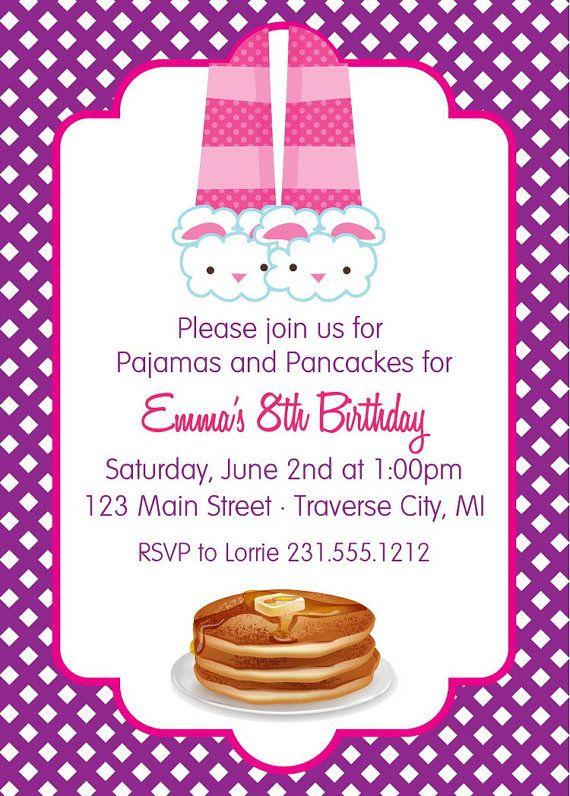 Pajama Party Birthday Invitations - Slumber Party Sleep ...