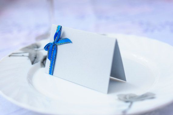 Sky blue place card Wedding place cards Name by GalaDayDesigns