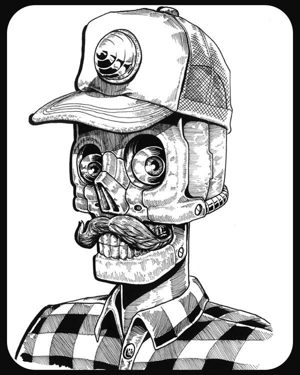 inks & Paper by Tommy Surya, via Behance                                                                                                                                                                                 Más