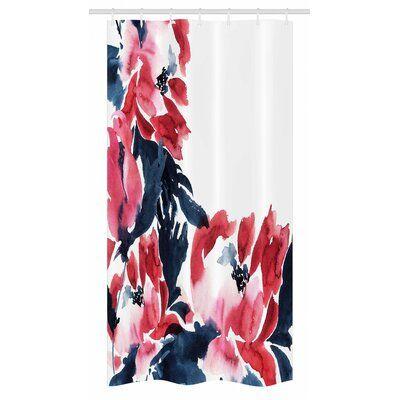 East Urban Home Stall Shower Curtain Single Hooks Size 36 W X