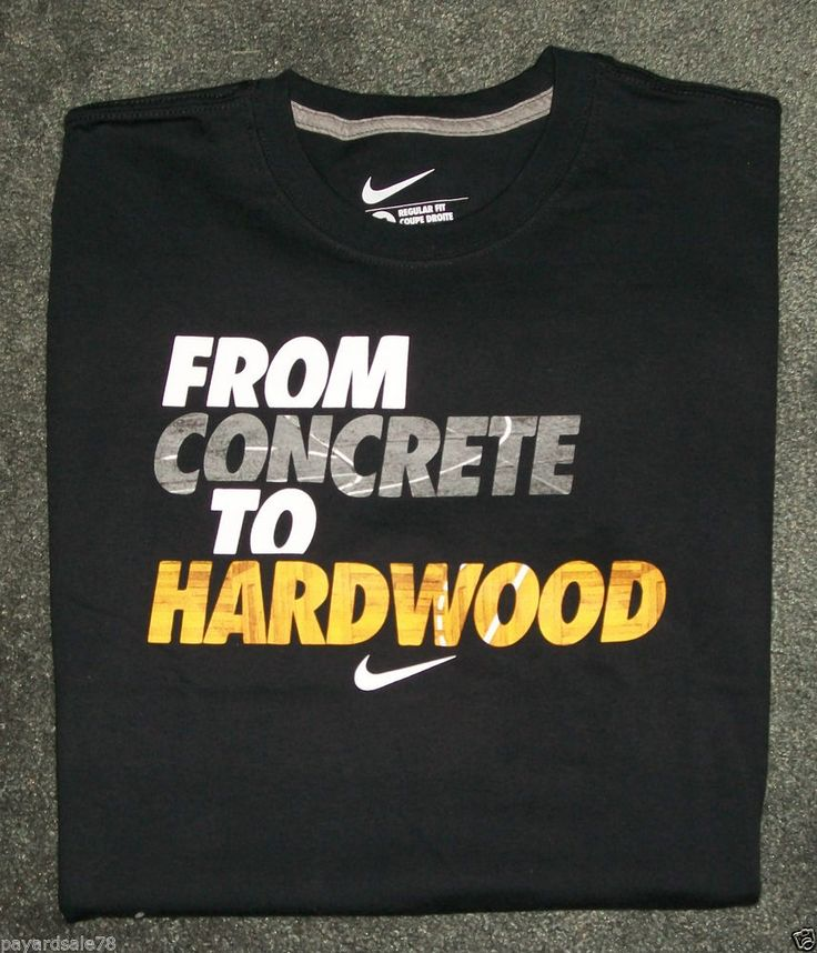 MEN'S SIZE LARGE NIKE T-SHIRT FROM CONCRETE TO HARDWOOD BASKETBALL TEE NWT #nike #GraphicTee