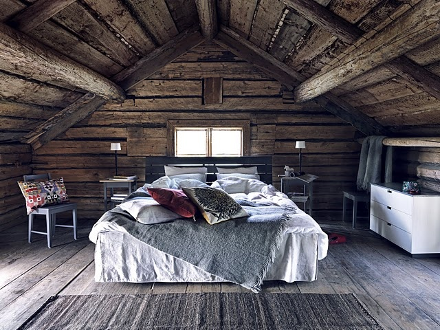 camera da letto o camera da sogno?: Rustic Bedrooms, Attic Bedrooms, Loft Bedrooms, Bedrooms Design, Master Bedrooms, Attic Rooms, House, Logs Cabins, Cabins Bedrooms