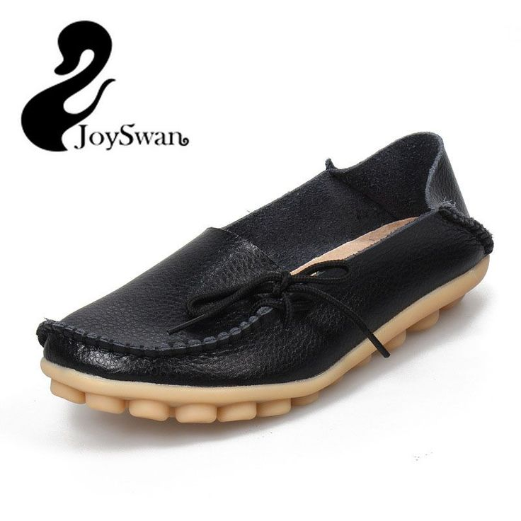 JoySwan 2017 Summer Women Moccasins Loafers Ladies Slip-On Leather Flat Shoes Comfortable Casual Mother Flats Plus Size 35-42