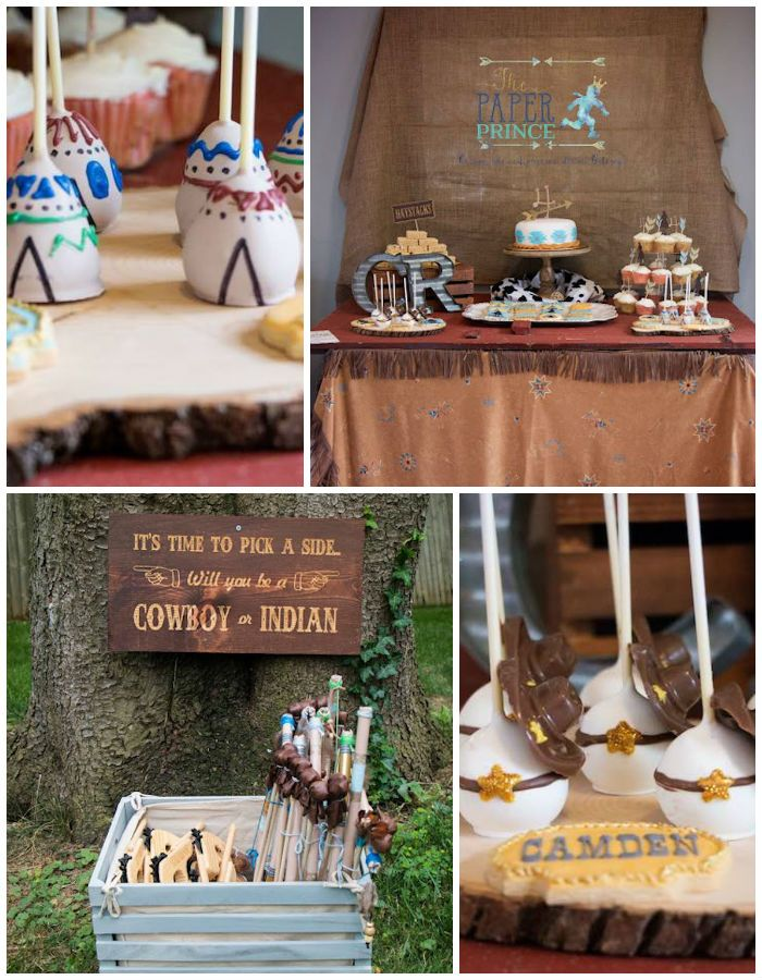 Rustic Cowboys & Indians Birthday Party via Kara's Party Ideas | KarasPartyIdeas.com