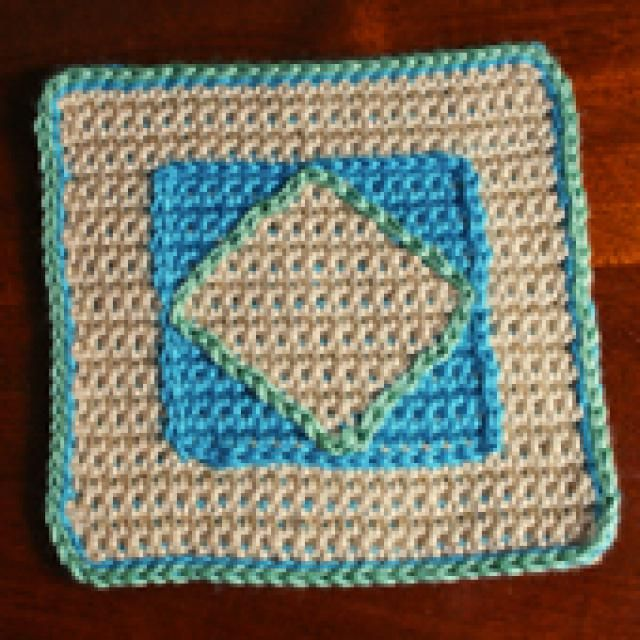 Create Your Own Customized Afghan with These Free Crochet Patterns: Diamond Afghan Square