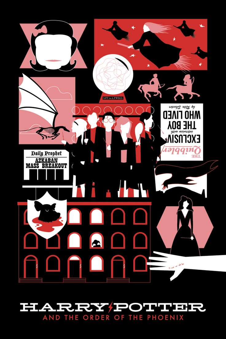 Harry Potter and the Order of the Phoenix: these posters are fab