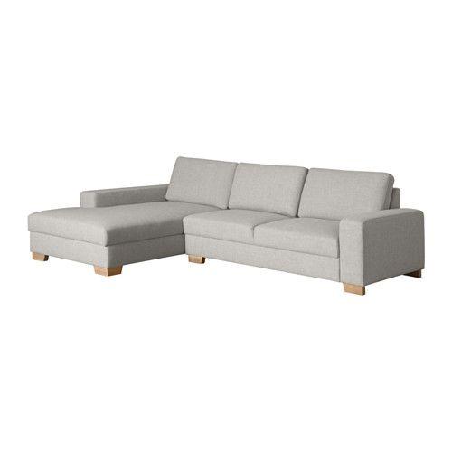 s rvallen 2er sofa mit r camiere links ten hellgrau. Black Bedroom Furniture Sets. Home Design Ideas