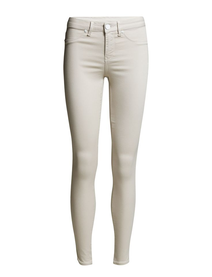 DAY - 2ND Jolie Ivory Button and zip closure Two front hip pockets Two patch pockets Skinny fit Cool Chic Classic Feminine Self-confidence