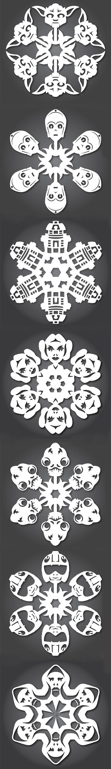 A little too high effort for me, but I love the final product. Star Wars Snowflake Templates. Print them out and create a Star Wars winter wonderland!