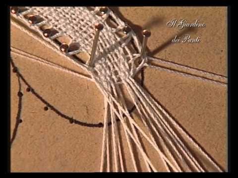 3 corso di tombolo - Margherita - YouTube