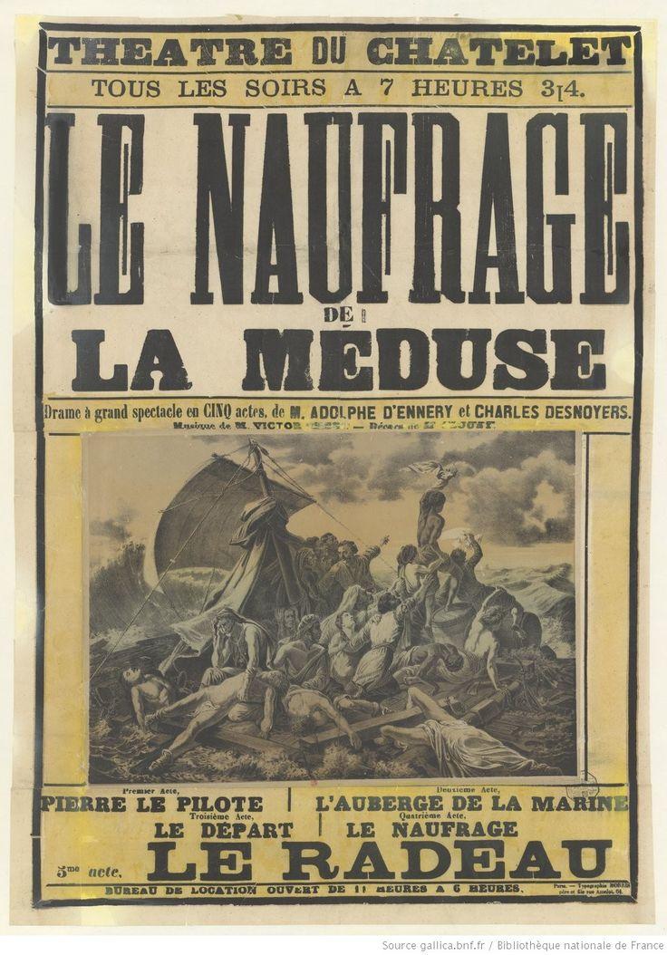 Théatre du Chatelet..., le Naufrage de la Méduse, drame à grand spectacle en cinq actes, de M. Adolphe d'Ennery et Charles Desnoyers..., 5ème acte : le radeau... : [affiche] / non identifié]