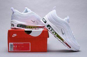 the latest f5975 fc88f Nike Wmns Air Max 97 Premium White Multi-Color 917646 111 Women s Men s  Casual Shoes