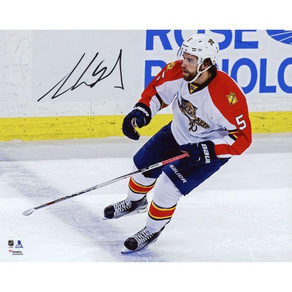 "Aaron Ekblad Florida Panthers Fanatics Authentic Autographed 8"" x 10"" White Jersey Skating Photograph - $44.99"