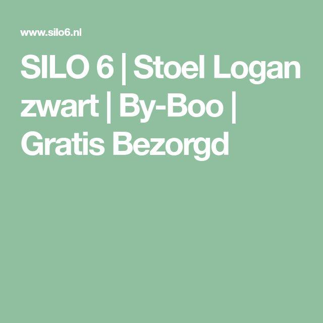 SILO 6 | Stoel Logan zwart | By-Boo | Gratis Bezorgd
