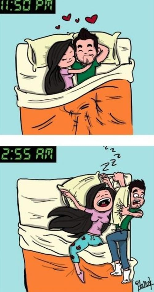 Not always!Beds, Comics Book, Future Husband, Truths, Funny Stuff, So True, Sleep, True Stories, Boyfriends