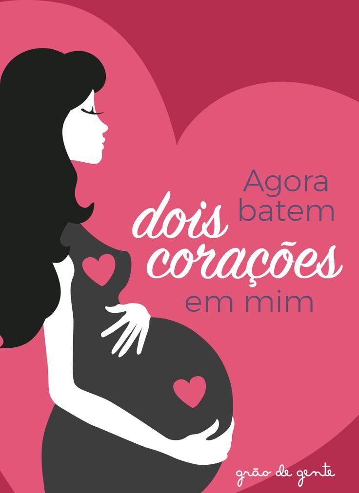 Dois corações e o dobro de amor! Qual mamãe também está cheinha de amor?