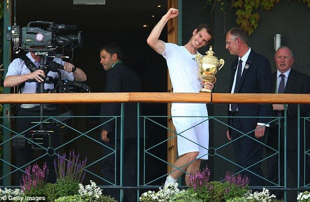 Murray was buoyed by the crowd both inside and outside of Centre Court on Sunday