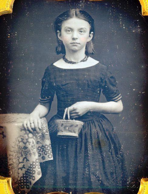 Victorian Teen With Her Basket Purse Daguerreotype by Mirror Image Gallery, via Flickr