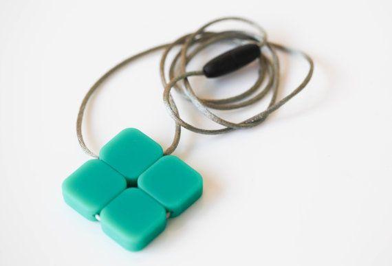 Diamond Silicone Teething Pendant