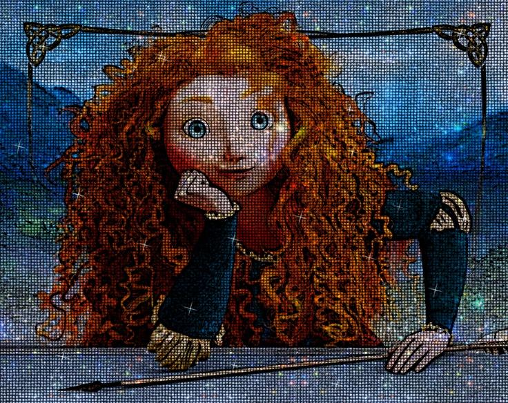 Brave: Mejor Película de Animación, con el brillo de los cristales de swarovsky de Mr Bling