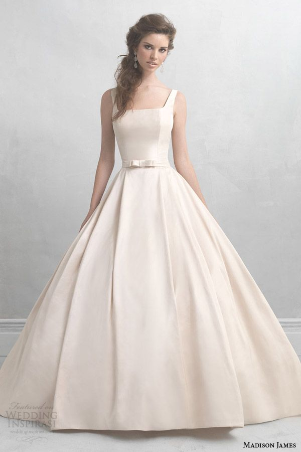madison james wedding dresses 2014 2015 champagne pink ball gown straps style mj05