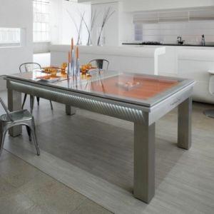 La table billard convertible   une solution jolie et pratique pour la salle de séjour