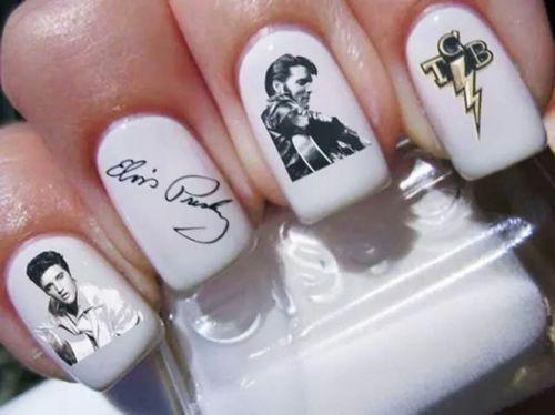 Elvis nail art: Elvis Nails Art, Las Vegas, Beautiful, Decals Nails, Presley Nails, Elvis Presley, Living Las, Nail Art, Nails Designs