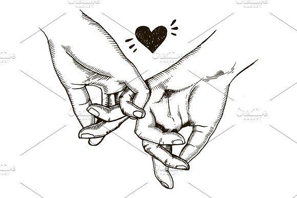 Pärchen Hände Halten