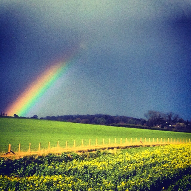Moment of magic. Captured from train window. Somewhere between Stratford-upon-avon and London. UK.