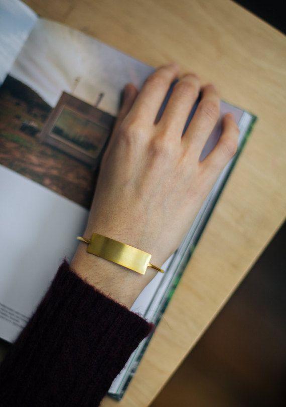 Modern minimal bracelet minimalist bangles adjustable gold