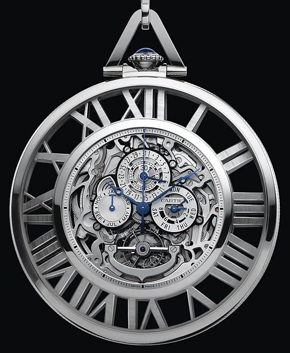 Cartier Skeleton Pocket Watch (Grand Complication) as introduced at SIHH 2012
