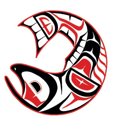 Mervin Windsor's Salmon (Haisla) -- inspiration for the ceiling piece