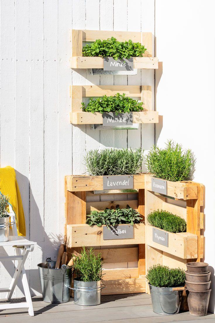 Urban Gardening Krautergarten Palette Paletten Ideen Garten Paletten Pflanzen