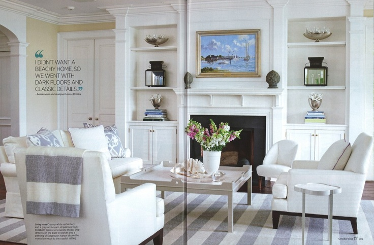 Love the oomph Fairfield 48 coffee table - an instant classic! TraditionalHomePg148-149(Oct'12)