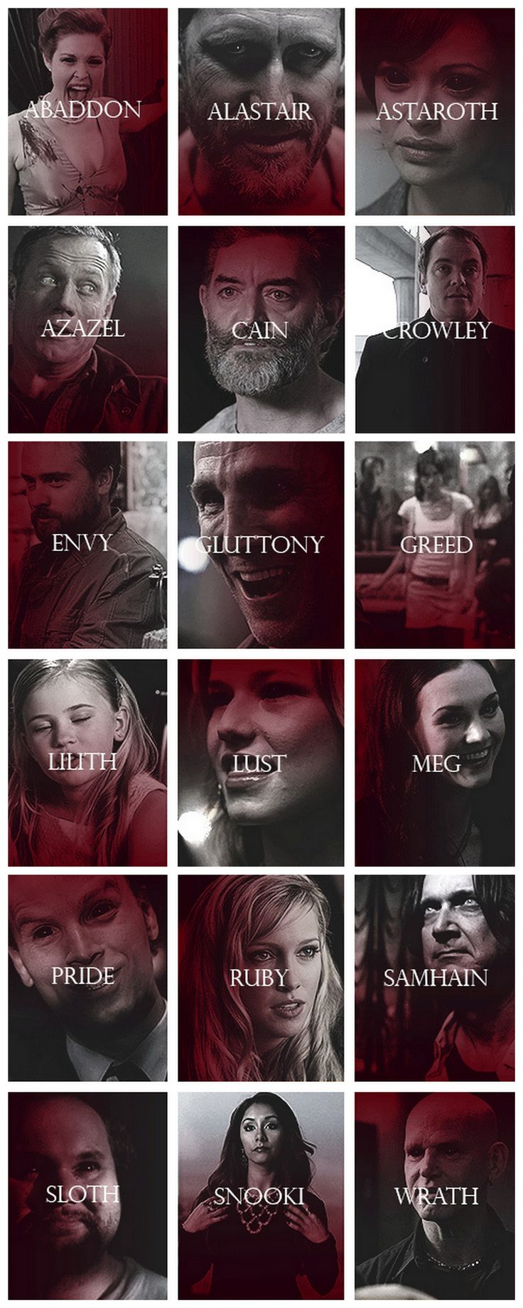 [gifset] They don't want anything, just death and destruction for its own sake.  Demons of #SPN