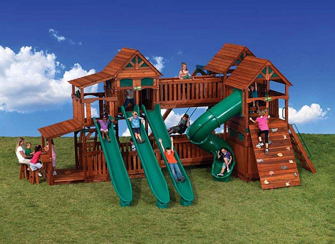 wood playsets playsets outdoor backyard playsets backyard swing sets