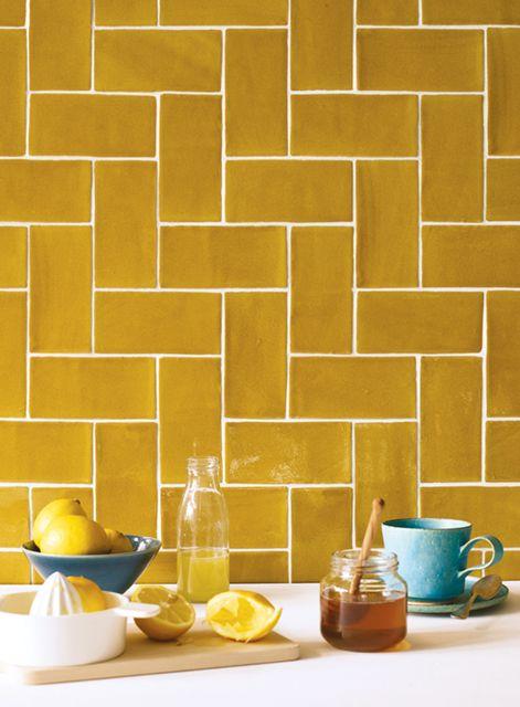 yellow tile on pinterest yellow kitchen tile ideas geometric tiles