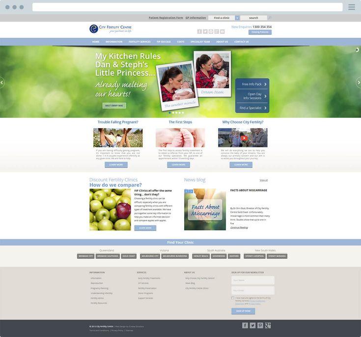 City Fertility Custom Wordpress Website Design | iCreate Advertising
