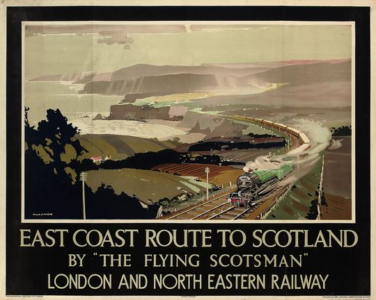 East Coast Route to Scotland by 'The Flying Scotsman' . London and North Eastern Railway
