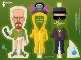 Cut out and dress Walter White to 'The Cook' and 'Heisenburg'