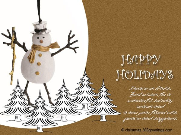 Happy Holidays Messages and Wishes Christmas Celebrations