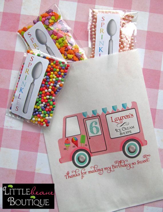 Love those party bags! #ice #cream #party #gifts #sprinkles #favor #bags