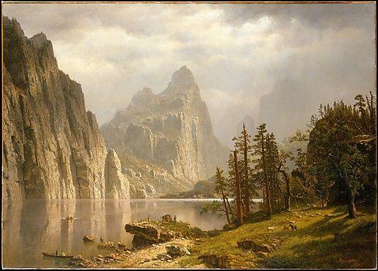 Merced River, #Yosemite Valley  Albert #Bierstadt (American, Solingen 1830–1902 New York City)