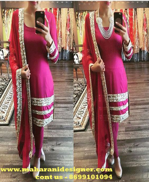 #DesignerPajamiSuitCollection #LatestPajamisuitonline #PartywearPajamisuitonline #BeautifulLongPajamisuit Maharani Designer Boutique To buy it click on this link http://maharanidesigner.com/Anarkali-Dresses-Online/pajami-suits-online/ Rs-5900 Laces work Fabric-Fine georgette For any more information contact on WhatsApp or call 8699101094 Website www.maharanidesigner.com Maharani Designer Boutique.