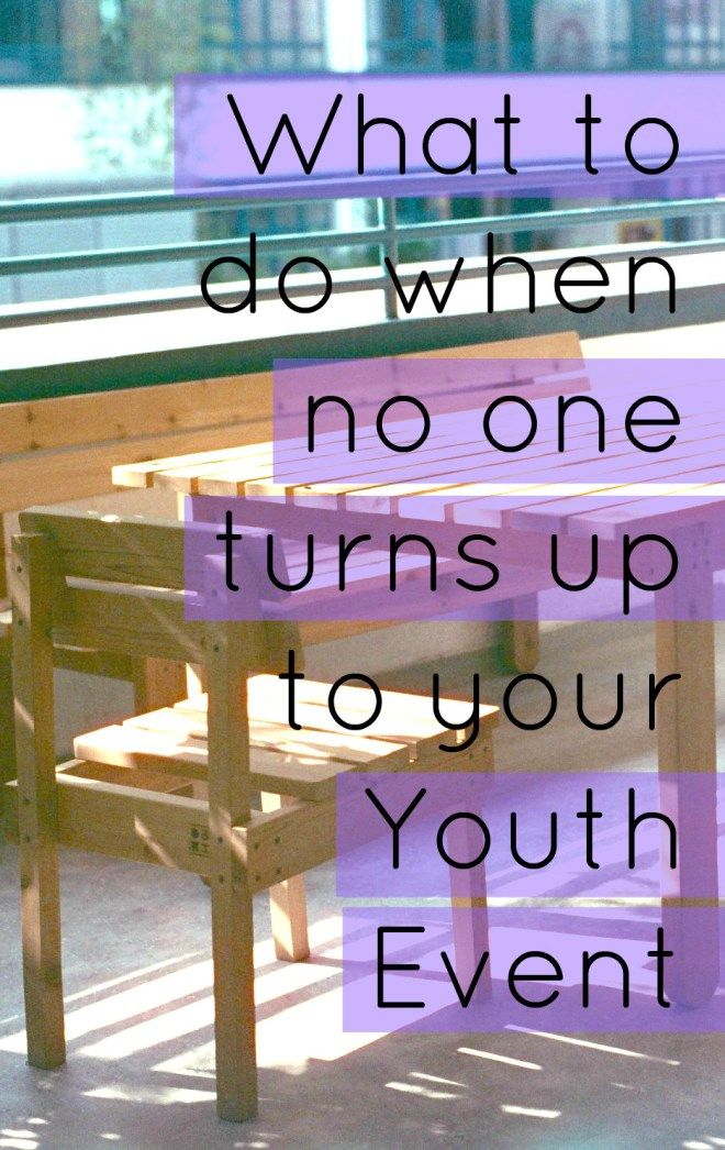 It's disappointing when no one turns up to Youth, even when you have the most AMAZING night planned! Here's some things you can do. Tansquared Youth Ministry