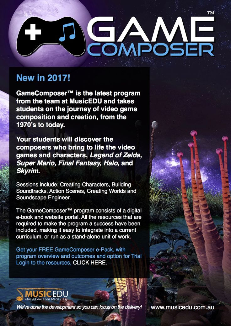 Get your FREE GameComposer e-Pack, with program overview, outcomes and options for a Trial Login to the resources.