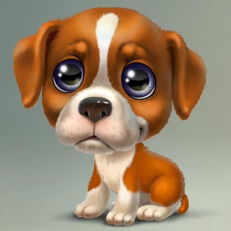 Ежик, прикольный рисунок щенка