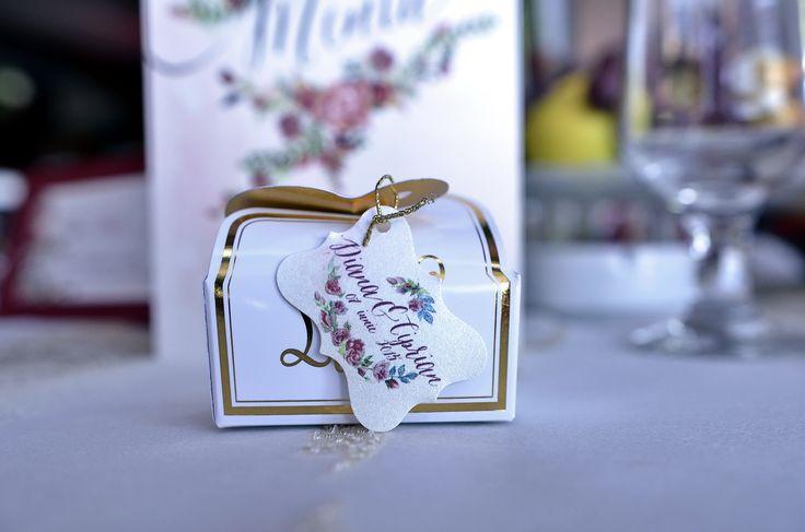My wedding favors - 2 chocolates by Leonidas Romania